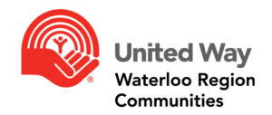 "United Way logo, with text that reads ""United Way, Waterloo Region Communities"""