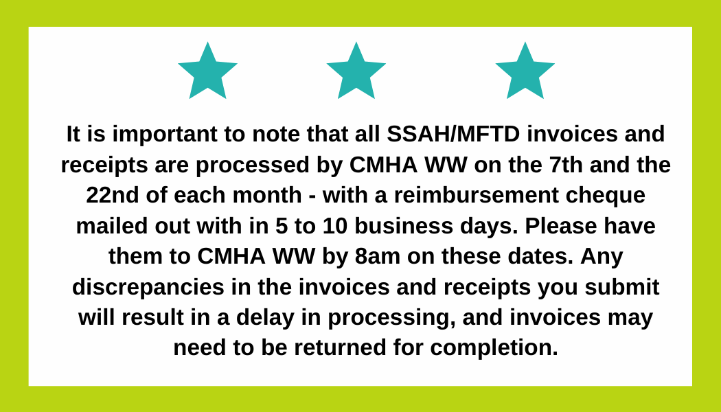 Alert about invoices and receipts for FSO clients.