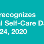 Person doing yoga for International Self-Care Day 2020